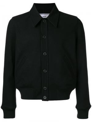 Куртка Jersey на пуговицах Ami Alexandre Mattiussi. Цвет: чёрный