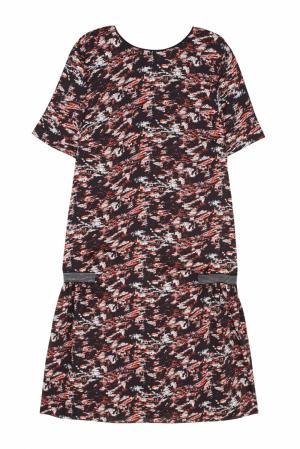 Платье с принтом VIKTORIA IRBAIEVA. Цвет: multicolor