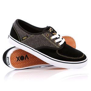 Кеды кроссовки низкие Vox Classx Black/Gold/White. Цвет: черный,серый