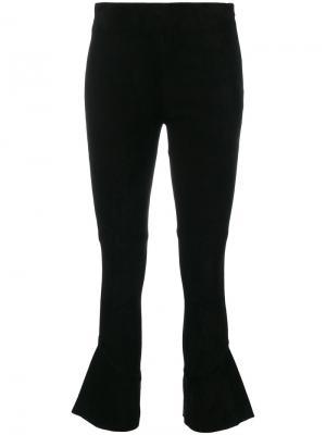 Укороченные расклешенные брюки Iro. Цвет: чёрный