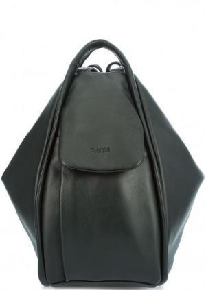 Сумка-рюкзак из натуральной кожи Bruno Rossi. Цвет: хаки