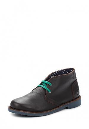 Ботинки United Colors of Benetton. Цвет: коричневый