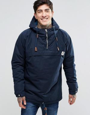 Fat Moose Куртка через голову со стеганой подкладкой Sailor. Цвет: темно-синий