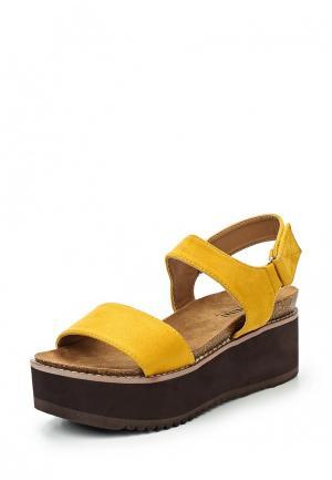 Босоножки Benini. Цвет: желтый