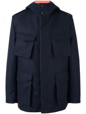 Куртка с карманами Wooster + Lardini. Цвет: синий