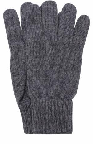 Шерстяные перчатки TSUM Collection. Цвет: серый