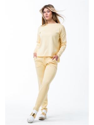 Костюм: брюки, джемпер Sava. Цвет: желтый