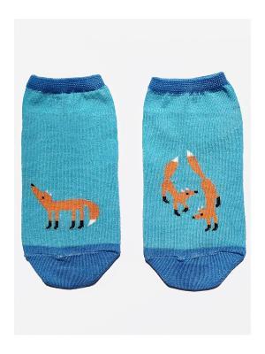 Носки укороченные Big Bang Socks. Цвет: голубой