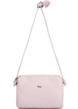 Кожаная сумка через плечо Bruno Rossi. Цвет: розовый