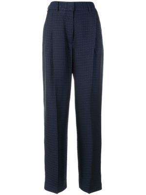 Широкие брюки с завышенной талией Alberto Biani. Цвет: синий