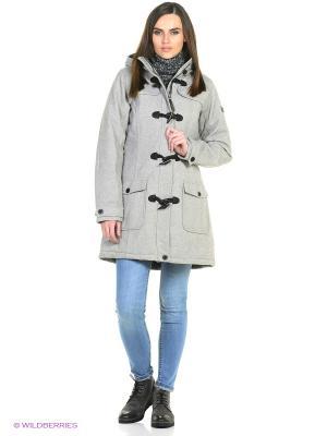 Пальто демисезонное Tenson. Цвет: светло-серый