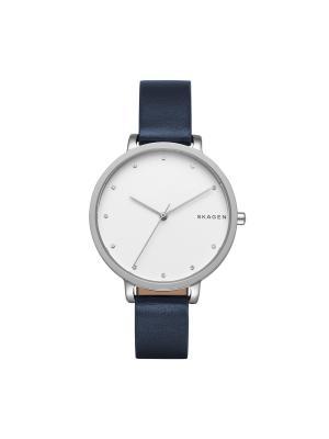 Часы SKAGEN. Цвет: темно-синий, серебристый, белый