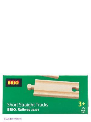 BRIO Ж/д полотно, прямое, длина 10,8см, 4дет.в наб.. Цвет: прозрачный