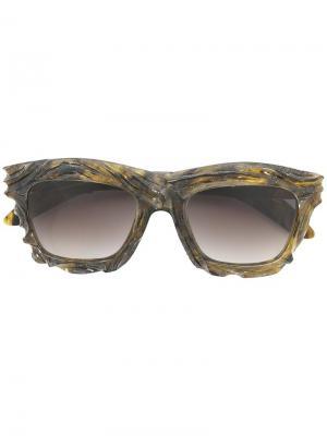Солнцезащитные очки с градиентными стеклами Kuboraum. Цвет: зелёный