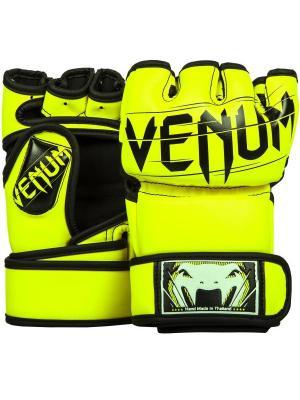Перчатки ММА Venum Undisputed 2.0 Neo Yellow. Цвет: желтый