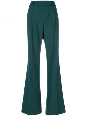 Классические брюки с завышенной талией Prada. Цвет: зелёный