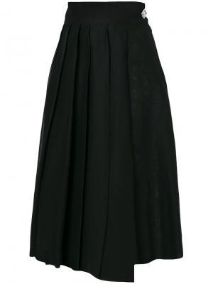 Плиссированная юбка миди A.W.A.K.E.. Цвет: чёрный