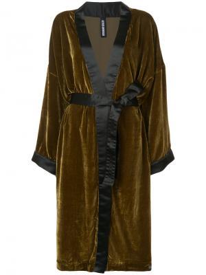 Свободное пальто с поясом Astrid Andersen. Цвет: жёлтый и оранжевый