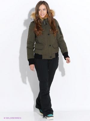 Куртка SNOWIMAGE. Цвет: темно-зеленый