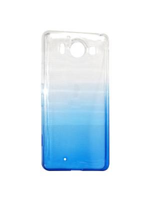 Крышка задняя для Nokia 950 Силикон IQ Format. Цвет: синий