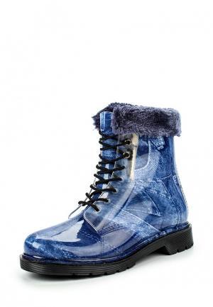 Резиновые сапоги Mon Ami. Цвет: синий
