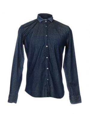 Джинсовая рубашка MANUEL RITZ. Цвет: синий