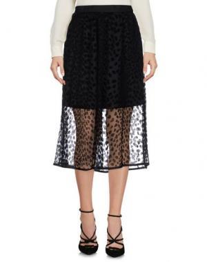 Юбка длиной 3/4 DRESS GALLERY. Цвет: черный