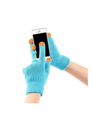 Перчатки GREZZO. Цвет: индиго