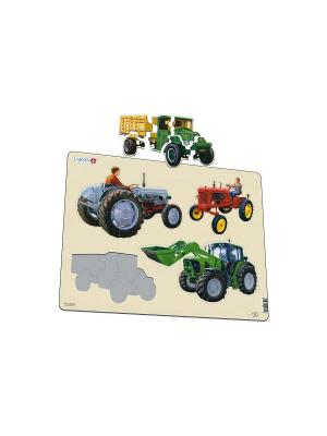 Пазл Трактор LARSEN AS. Цвет: зеленый, белый, синий, голубой, оранжевый, желтый