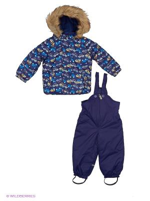 Комплект(куртка, полукомбинезон) Cherubino. Цвет: синий