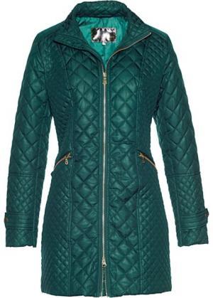 Стеганая куртка (зеленый) bonprix. Цвет: зеленый