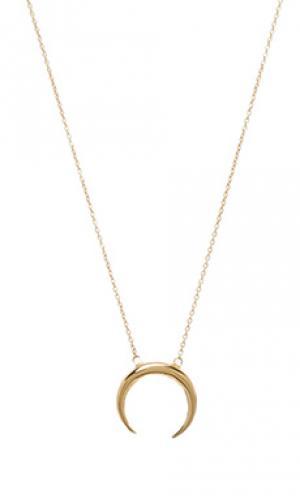 Ожерелье crecent Jacquie Aiche. Цвет: металлический золотой
