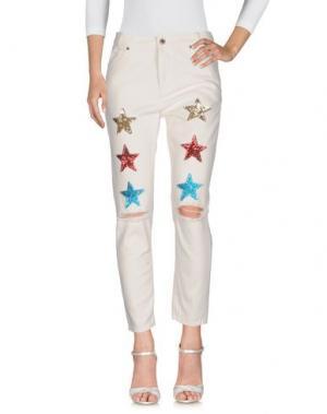 Джинсовые брюки ITALOGY. Цвет: белый