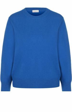 Шерстяной пуловер с круглым вырезом Dries Van Noten. Цвет: синий