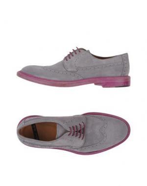 Обувь на шнурках ROLANDO STURLINI. Цвет: серый