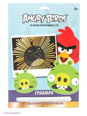 Гравюра Angry birds Centrum. Цвет: черный, золотистый