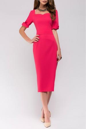 Приталенное платье с короткими рукавами ANASTASIA KOVALL. Цвет: розовый