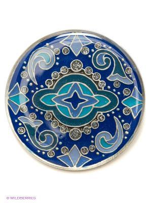 Брошь Clara Bijoux. Цвет: синий, бирюзовый, сиреневый