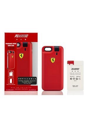 Туалетная вода PHONE CASE  RED 25 мл FERRARI SCUDERIA. Цвет: прозрачный