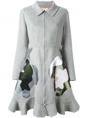 Пальто Framis Mary Katrantzou. Цвет: серый