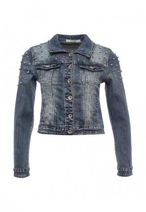 Куртка джинсовая Kiss Pink. Цвет: синий
