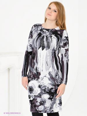 Платье Magnolica. Цвет: белый, черный, серый