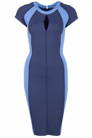 Приталенное платье с вырезом Капелька Alter Ego. Цвет: синий