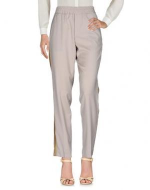 Повседневные брюки PALM ANGELS. Цвет: песочный