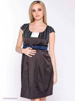 Платье UNIOSTAR. Цвет: коричневый, зеленый