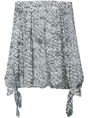 Блузка с открытыми плечами принтом Derek Lam. Цвет: чёрный