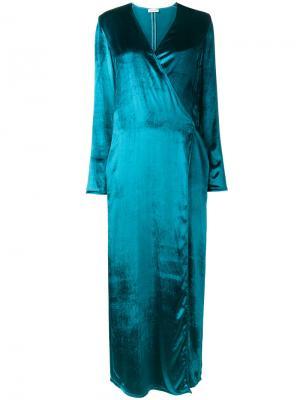 Бархатное платье Raquel Attico. Цвет: синий