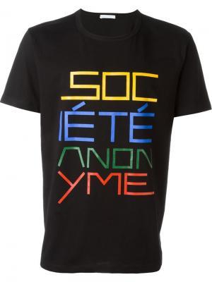Футболка Da Sa Société Anonyme. Цвет: чёрный