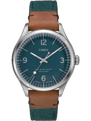 Часы TIMEX. Цвет: зеленый, коричневый