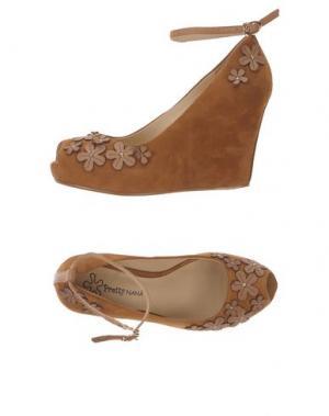 Туфли PRETTY NANÃ. Цвет: коричневый